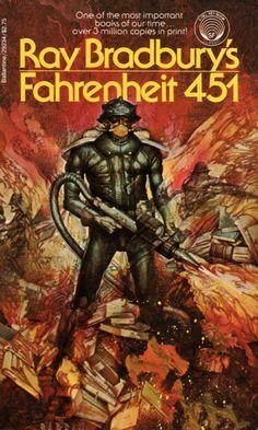 FAHRENHEIT 451 by Ray Bradbury - Ballatine Books - movie starred Oscar Werner & Julie Christie