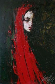 by Ukrainian Portrait painter Taras Loboda 1961 Arte Horror, Red Art, Paintings I Love, Portrait Art, Face Art, Figure Painting, Figurative Art, Amazing Art, Art Drawings