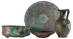 Hercule, Site Archéologique, Archaeology, Decorative Bowls, Service, 2013, Marcel, Casseroles, Bronze
