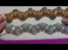 Interlace Bracelet with a little designing on the fly!!! A Bronzepony Beaded Jewelry Design - YouTube