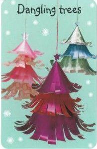 Xmas Craft-Dangling CMas Tree #christmas