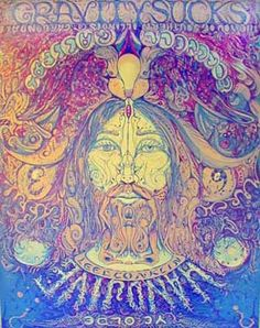 """""""The You of southern Il. Carbondale."""" Artwork by the renowned 60's psychedelic poster artist Lee Conklin"""