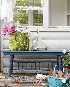 I really want a cute little bench