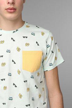 Altru Beachwear Pocket Tee #urbanoutfitters