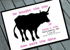 Quirky Funny SAVE THE DATE Card Digital printable file by SweetLex