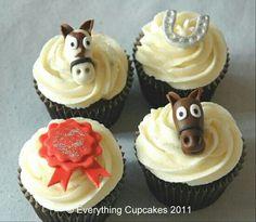 Cupcakes con caballos y herradura