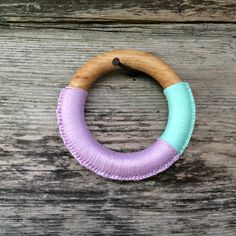 Wood Teething Ring Eco Baby Teether Montessori Toy for Baby Violet Lila Aquamarine Babyshower Gift Baby Shower gift Waldorf Baby - pinned by pin4etsy.com