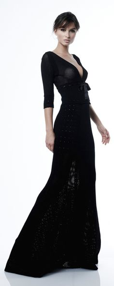 another gown reminiscent of the gorgeous black antique overdress - the fashion wheel has spun round again. in a shorter length, could become the black lace shirt dress that would be perfect this season & for years to come. (Zuhair Murad)
