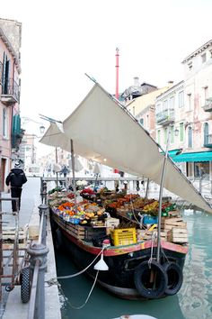 ~Transporting fruits and vegetables in Venice, Italy by Carla Coulson