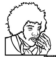 100 free famous people coloring pages color in this picture of jimi hendrix and