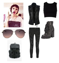 """""""Outfit62"""" by alternative-outfits ❤ liked on Polyvore featuring Current/Elliott, Forever 21, Ash, MANGO and BDG"""
