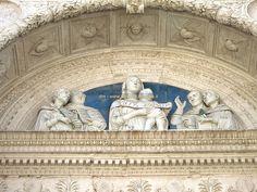 The Church of San Domenico Urbino, portal lunette by Luca della Robbia - Marche, Italy