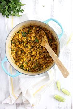 One Pot Brazilian Chickpeas and Rice - Emmas Little Kitchen