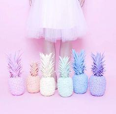 I've got a lovely bunch of pineapples.