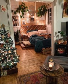 Attractive Bohemian Bedroom Decor Designs: Its time to add your home bedroom and interior designing with the perfect finishing of the decoration and renovation effects! Deco Studio, Bohemian House, Bohemian Living, Bohemian Decor, Bohemian Style, Aesthetic Bedroom, Dream Apartment, Bohemian Studio Apartment, Vintage Apartment Decor