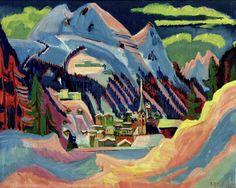 Ernst Ludwig Kirchner - Davos in Snow