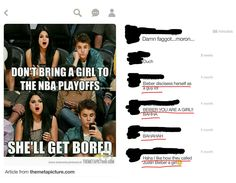 """#INeedFeminism because it's fucking 2017 + my gender is STILL being used as an insult. People don't like Justin Beiber (for good reason), but we insult him by comparing him to a girl? The worst part is the majority of users who approve this pin are girls (underlined in red), showing that girls are STILL compliant with femininity being viewed as negative, because we're still teaching them that that's """"just the norm"""" #Feminism #liberation #sexism #equality"""
