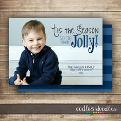 Printable Christmas Card 'Tis the Season to be Jolly by OandD