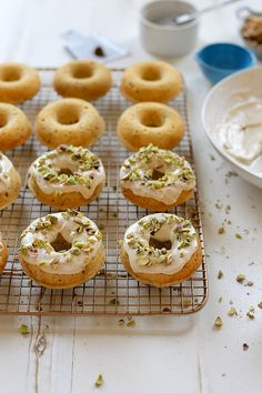 Baked Brown Butter and Pistachio Doughnuts | http://joythebaker.com/2014/08/baked-brown-butter-pistachio-donuts/