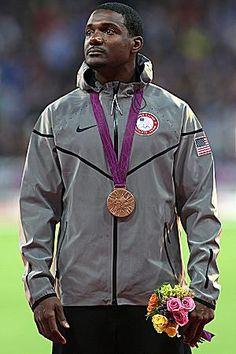 Justin Gatlin, track & field bronze medalist in the 100