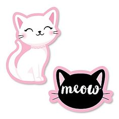 Purr-fect Kitty Cat - DIY Shaped Kitten Meow Baby Shower or Birthday Party Cut-Outs - 24 ct Baby Girl Shower Themes, Girl Themes, Themes Themes, Doodles Kawaii, Do It Yourself Baby, Kitten Meowing, Cat Birthday, Cat Party, Cat Drawing
