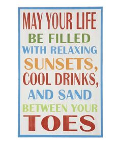 Another great find on #zulily! 'May Your Life' Wall Art by GANZ #zulilyfinds