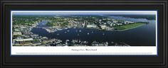 Annapolis, Maryland Panoramic Skyline Picture - Deluxe Frame $199.95