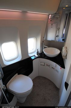 Cathay Pacific Boeing 747 first class restroom