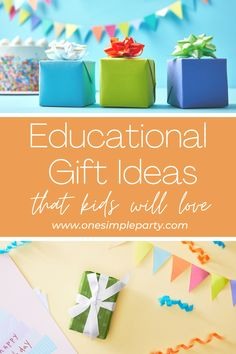 Need to buy a gift for a child and aren't sure where to begin? Check out these educational gift ideas that are sure to wow any child. Educational gifts make a wonderful gift for any kid. And the best part is that there are lots of different ones to choose from. From musical instruments to classes and robots, you're sure to find one that will work for your next gift giving celebration. #educationalgiftideas #educationalgiftideasforkids #educationaltoys #kidbirthdaygiftideas… Next Gifts, Gifts For Kids, Holiday Gifts, Christmas Gifts, Gifted Education, Family Gifts, Party Gifts, Birthday Gifts, Birthday Celebration