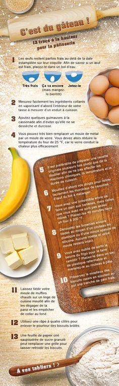 13 trucs à la hauteur pour la #pâtisserie