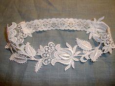 Floral Venise Lace Bridal Garter by gartermegood on Etsy