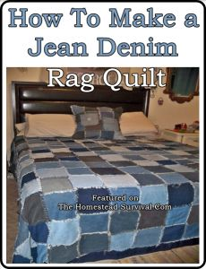 The Homestead Survival | How To Make A Blue Jean Denim Rag Quilt | http://thehomesteadsurvival.com