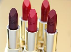 Dolce matte red lipsticks family, want them all!