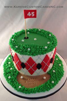 The best ways to Make A Golf Cake Golf Themed Cakes, Golf Cakes, Chocolate Sponge Cake, Tasty Chocolate Cake, Celebration City, Celebration Cakes, Golf Cake Toppers, Genoise Cake, Retirement Cakes