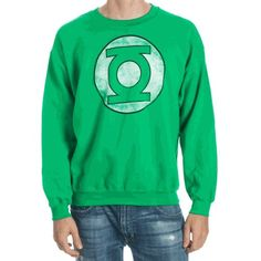 Knowing right from wrong is easy, but do you have what it takes to mete out justice upon evildoers when the time is nigh? If so, maybe you have just what it takes to become the next Green Lantern. Crew Sweatshirts, Dc Comics, Lanterns, Crew Neck, Graphic Sweatshirt, Logos, Green, Sweaters, Mens Tops
