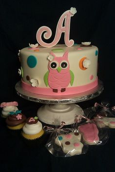 owl cake by Luv at first Bite, via Flickr