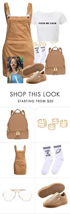 """Untitled #427"" by ahmonie ❤ liked on Polyvore featuring MICHAEL Michael Kors, Glamorous, Yeah Bunny, CÉLINE and Puma"