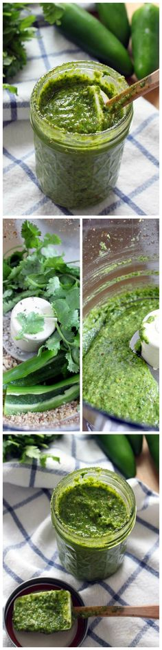 This cilantro jalapeno pesto costs $3 to make, takes five minutes, and tastes AMAZING. Use on pasta, sandwiches, tacos... anything!