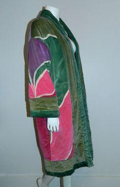 vintage 1970s velvet coat / reversible sleeping bag coat / kimono jack – Retro Trend Vintage