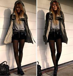 shorts. winter coat edition.