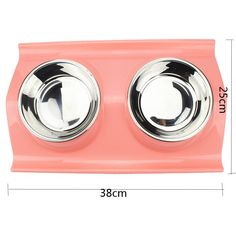 SNAIL Double Pet Raised Stainless Steel Plastic Non Skid Anti-spill Bowls Dish or Feeder Set of 2 with Removable Mat Tray or Base for Small Dogs Puppy Cats Pets Rabbits *** Learn more by visiting the image link. (This is an affiliate link and I receive a commission for the sales)