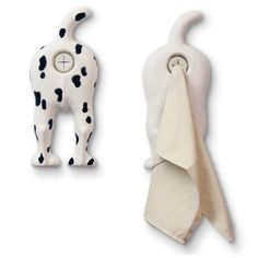 Dog Butt Towel Holder...cuter? They should make a dog butt poop bag dispenser...