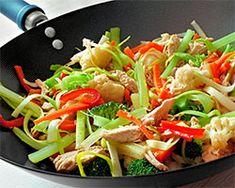 TODAS LAS RECETAS : Wok de verduras salteadas con fideos de arroz