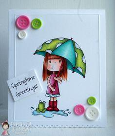 Crafty Little Pigtails—Ella's Umbrella Digi