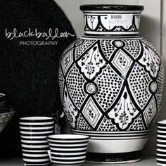 moroccan black and white