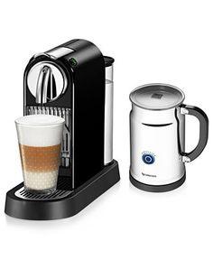 Every girl's three favorite words =time for coffee, Nespresso espresso maker