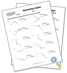 35 Best Measuring Angles Images 4th Grade Math Fourth Grade Math