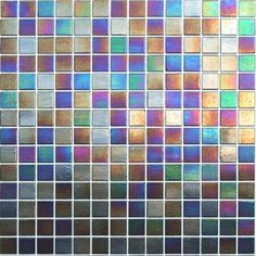 Iridescent glass tile...i want this for my kitchen very soon