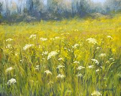 """The Flower Fields by Kathy McDonnell Pastel ~ 8"""" x 10"""""""