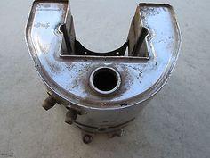 #Harley Harley-Davidson Chrome Rigid Frame Horseshoe Oil Tank Knucklehead Panhead OEM please retweet
